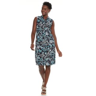 Women's Croft & Barrow® Print Shirt Dress