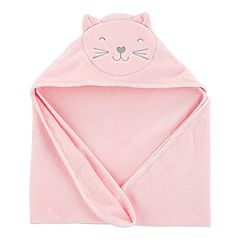 Baby Girl Carter's Embroidered Cat Hooded Towel