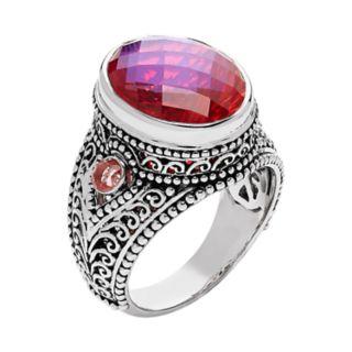 Sterling Silver Celestial Quartz Ring