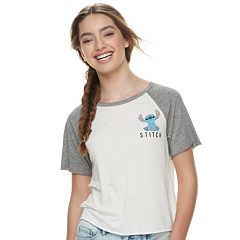 Disney's Lilo & Stitch Juniors' Burnout 'Aloha' Graphic Tee