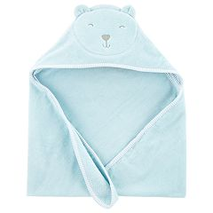 Baby Boy Carter's Embroidered Bear Hooded Towel