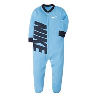Baby Boy Nike Swoosh Blue Footed Coverall