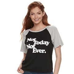 Juniors' Burnout 'Not Today Not Ever' Graphic Tee
