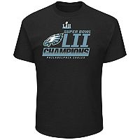 Big & Tall Philadelphia Eagles Super Bowl LII Champions Fanfare Tee