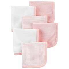 Baby Girl Carter's 6-Pack Striped & Solid Wash Cloths