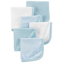 Baby Boy Carter's 6-Pack Striped & Solid Wash Cloths