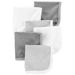 Baby Carter's 6-Pack Striped & Solid Wash Cloths