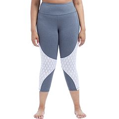 Plus Size Balance Collection Ella Jaquard Mesh Capris