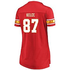 Women's Majestic Kansas City Chiefs Travis Kelce Draft Him Tee