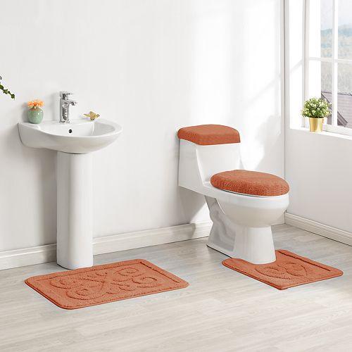 Madison Fleur De Lis 4 Piece Bath Rug Set