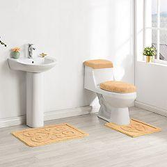 Madison Fleur De Lis 4-piece Bath Rug Set