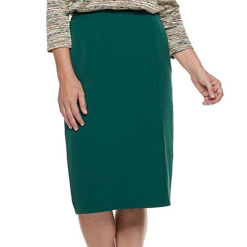 272942bca Petite Alfred Dunner Studio Solid Straight Skirt