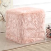 HomePop Faux Fur Poof