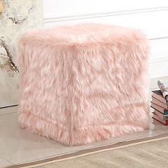 HomePop Faux Fur Poof