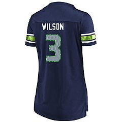 Women's Majestic Seattle Seahawks Russell Wilson Draft Him Tee