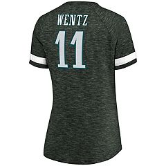 Women's Majestic Philadelphia Eagles Carson Wentz Tee