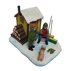 St. Nicholas Square® Village Ice Fishing Shanty