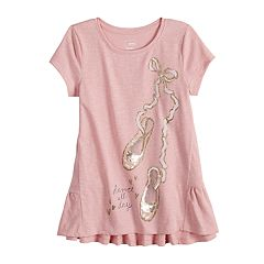 Girls 4-12 SONOMA Goods for Life™ Peplum-Hem Graphic Tee