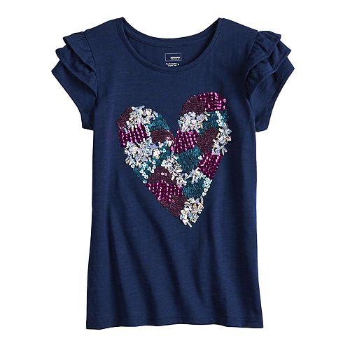 Girls 4-12 SONOMA Goods for Life™ Embellished Flutter Tee