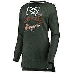 Women's Cincinnati Bengals Hyper Lace-Up Tee