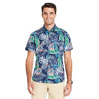 Big & Tall IZOD Classic-Fit Tropical Button-Down Shirt