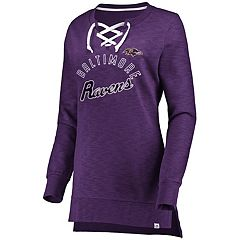 Women's Baltimore Ravens Hyper Lace-Up Tee