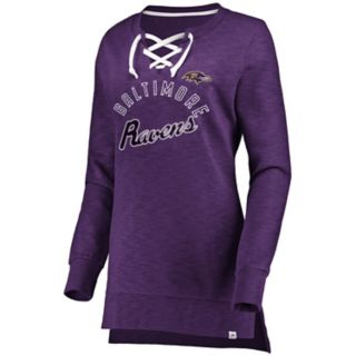 Women's Baltimore Ravens Hyper Lace-Up Tee