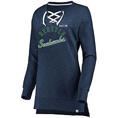 Women's Seattle Seahawks Hyper Lace-Up Tee