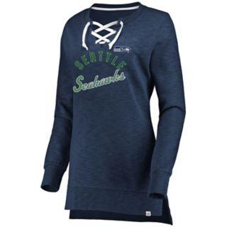 Women's Seattle Seahawks Hyper Lace-Up Tee