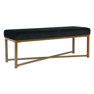 HomePop Velvet Bench