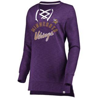 Women's Minnesota Vikings Hyper Lace-Up Tee