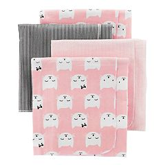 Baby Girl Carter's 4-Pack Print Flannel Blankets