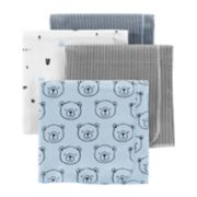 Baby Boy Carter's 4-Pack Print Flannel Blankets