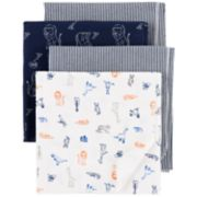 Baby Boy Carter's 4-Pack Print Flannel Receiving Blankets
