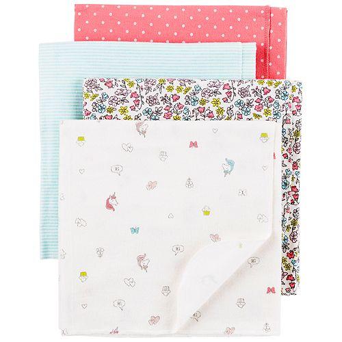 Baby Girl Carter's 4-Pack Print Receiving Blankets