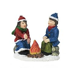 St. Nicholas Square® Village Double Figurine Children Start A Fire