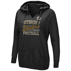 Women's Majestic Pittsburgh Steelers Quick Out Hoodie