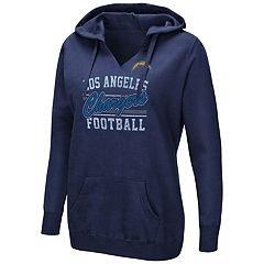 Women's Majestic Los AngelesChargers Quick Out Hoodie