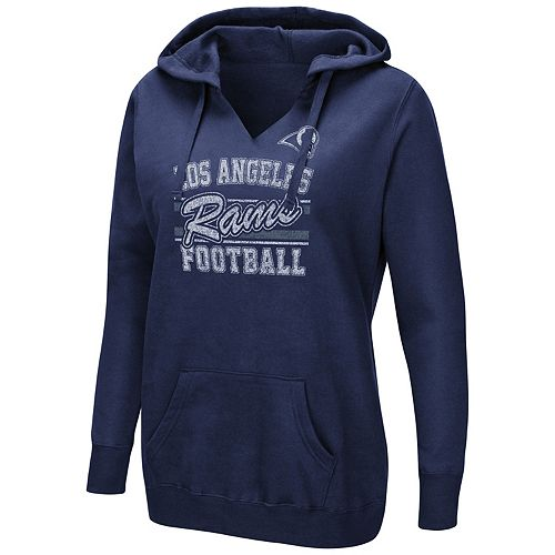 Women's Majestic Los Angeles Rams Quick Out Hoodie