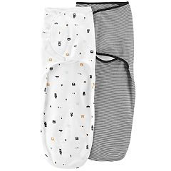Baby Boy Carter's 2-Pack Striped & Bear Swaddles