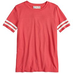 Girls Plus Size Pink Republic Crewneck Varsity Tee