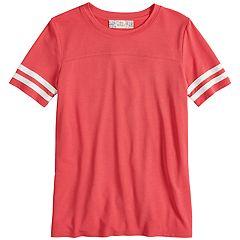 Girls Plus Size Pink Republic Crewneck Varsity Tee