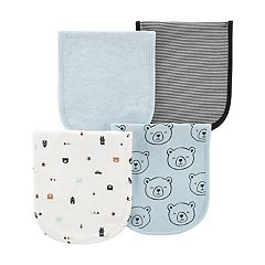 Baby Boy Carter's 4-Pack Print & Solid Burp Cloths