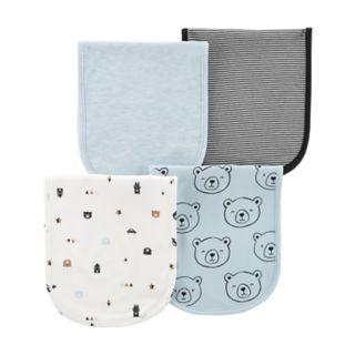 Baby Boy Carter's 4-Pack Print & Solid Burp Cloths