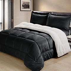 Ultra Plush Reversible Micromink & Sherpa Fleece Comforter Set