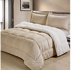 Ultra Plush Reversible Micromink & Sherpa Fleece Comforter Set