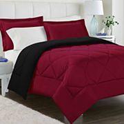 Peach Skin Reversible Comforter Set