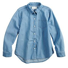 Girls 4-10 Jumping Beans® Chambray Shirt
