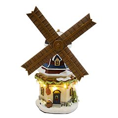 St. Nicholas Square® Village Windmill with Lights and Motion