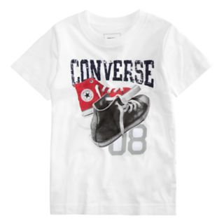 """Boys 4-7 Converse Mix Match Shoes """"08"""" Graphic Tee"""